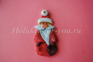 Дед мороз из соленого теста