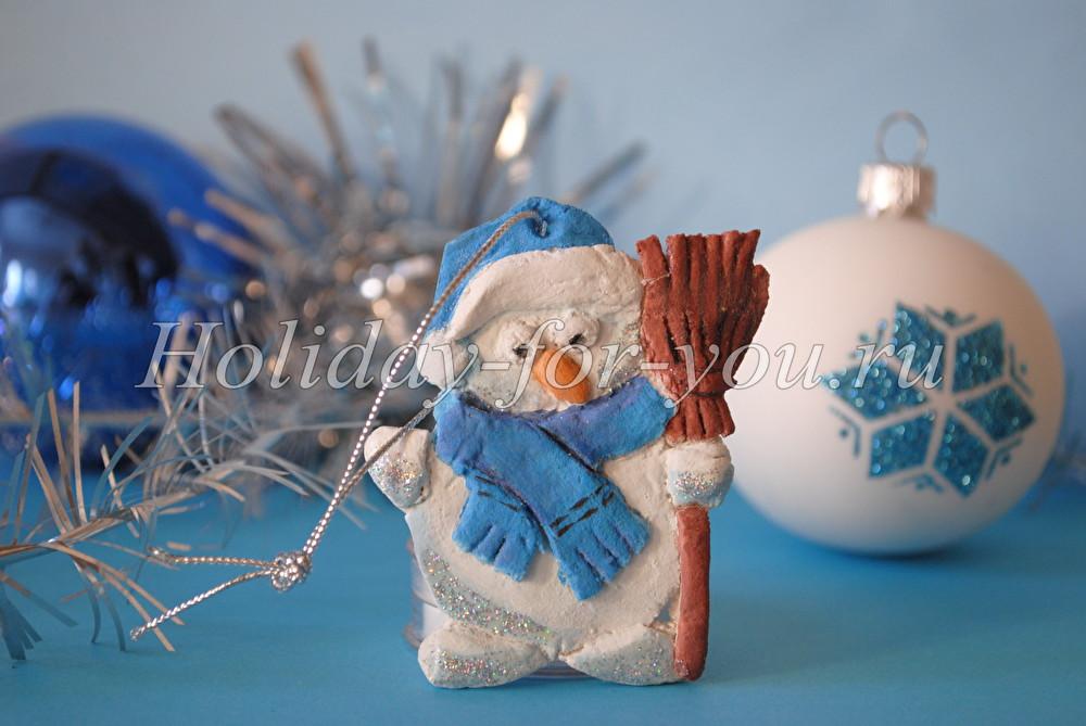 Поделка снеговик из соленого теста своими руками фото 379