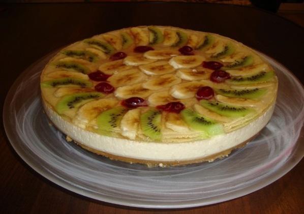 Желейно-фруктовый торт