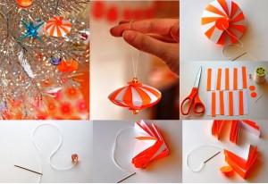 игрушка на елку из бумаги своими руками