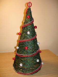 Новогодняя елочка своими руками из ниток