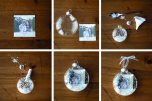 как сделать елочный шар с фотографией