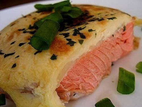 форель с сыром