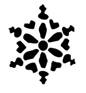 Трафарет-снежинка