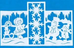 Новогодние шаблоны для вырезания из бумаги на окна 2016