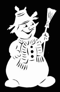 Шаблоны снеговиков
