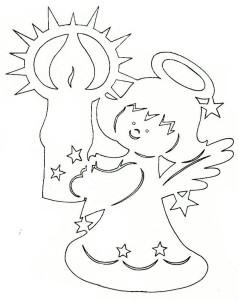 Шаблоны Рождественских ангелочков