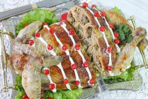 Рецепт курицы фаршированной блинами с фото