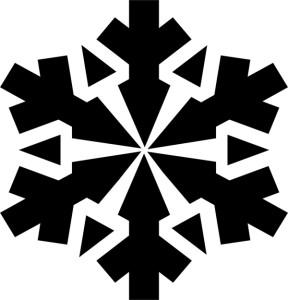 Новогодняя снежинка трафарет