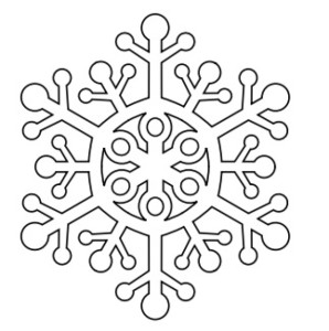 Шаблон снежинки