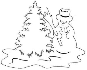 Снеговик с елочкой
