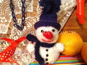 Снеговик спицами схема и описание