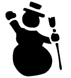 трафарет снеговика