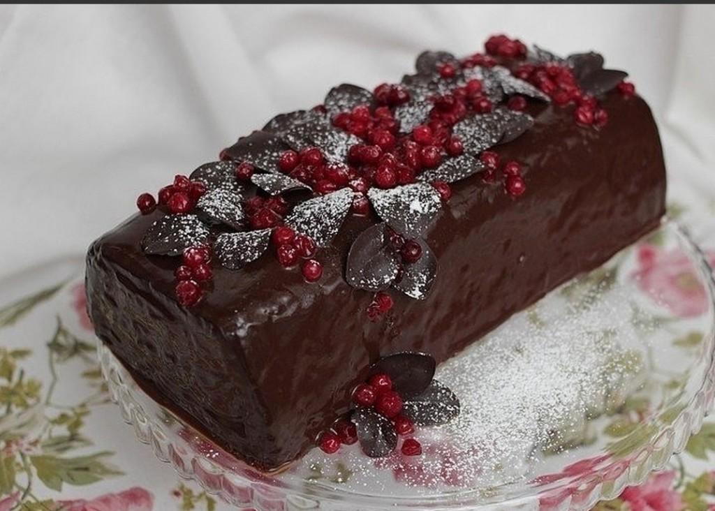 Десерт «Рождественское полено»