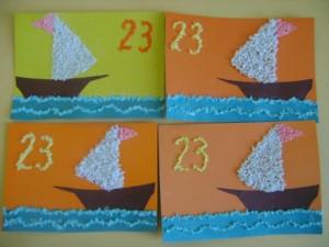 Поделки на 23 Февраля своими руками в детском саду из салфеток