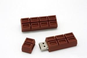 флешка-шоколадка