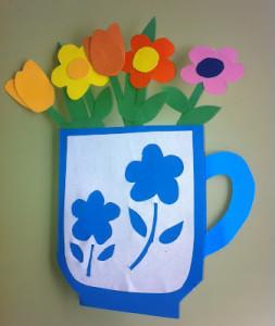 Открытка-кружка с цветами