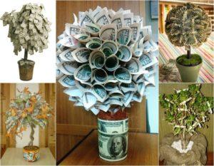 Дерево из денег