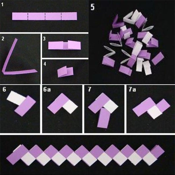 Гирлянда в технике оригами
