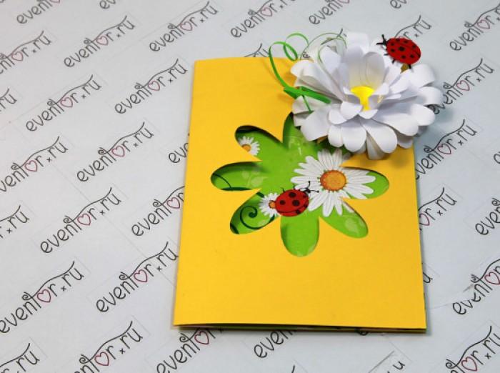 Цветочная открытка для мамы