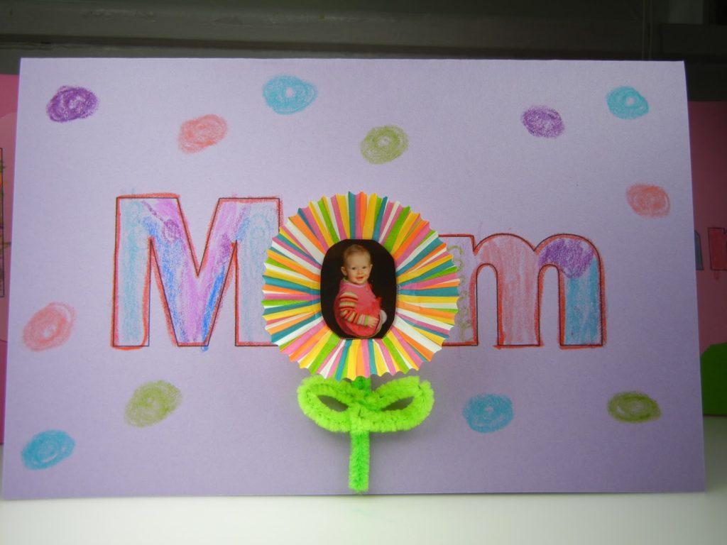 Открытки на День матери своими руками в детском саду из бумаги