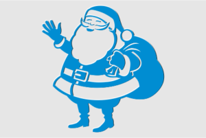 Трафареты Деда Мороза на окна к Новому году для вырезания