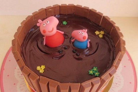 Торт «Свинка Пеппа» - рецепт