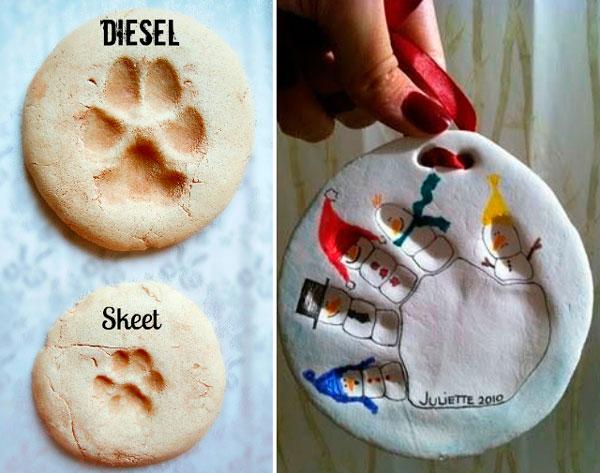 Елочные игрушки от домашних животных