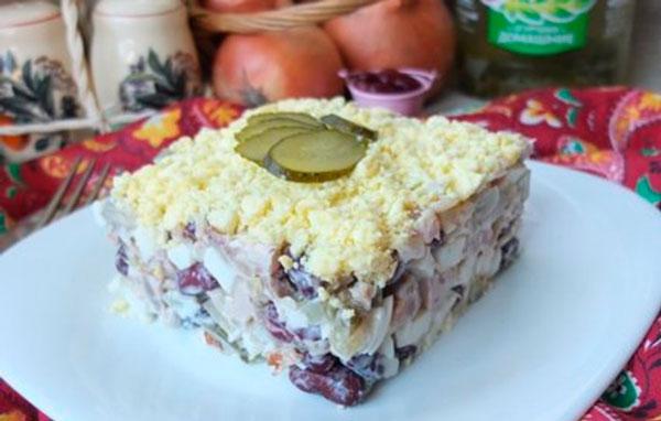 Брутальный мясной салат