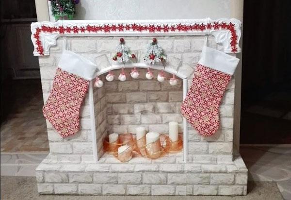 Камин к рождеству