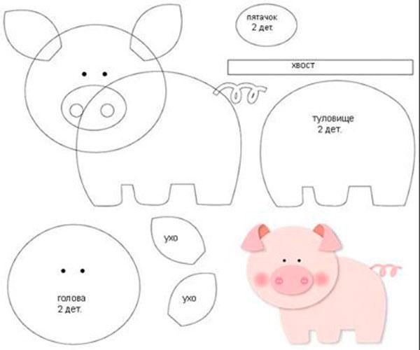 Мастер класс 2 Игрушка – свинка 2