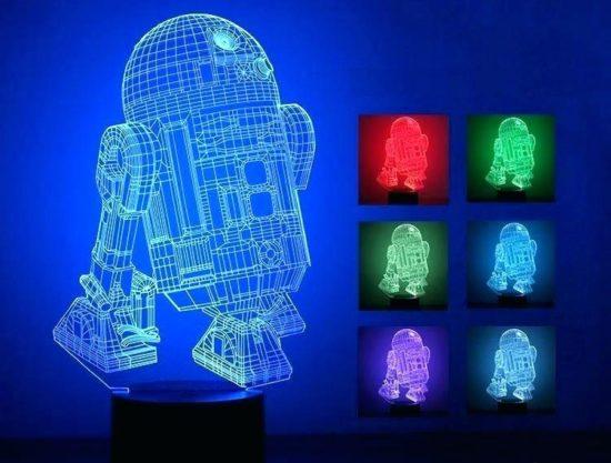 Сенсорный светильник с возможностью 3D проекции