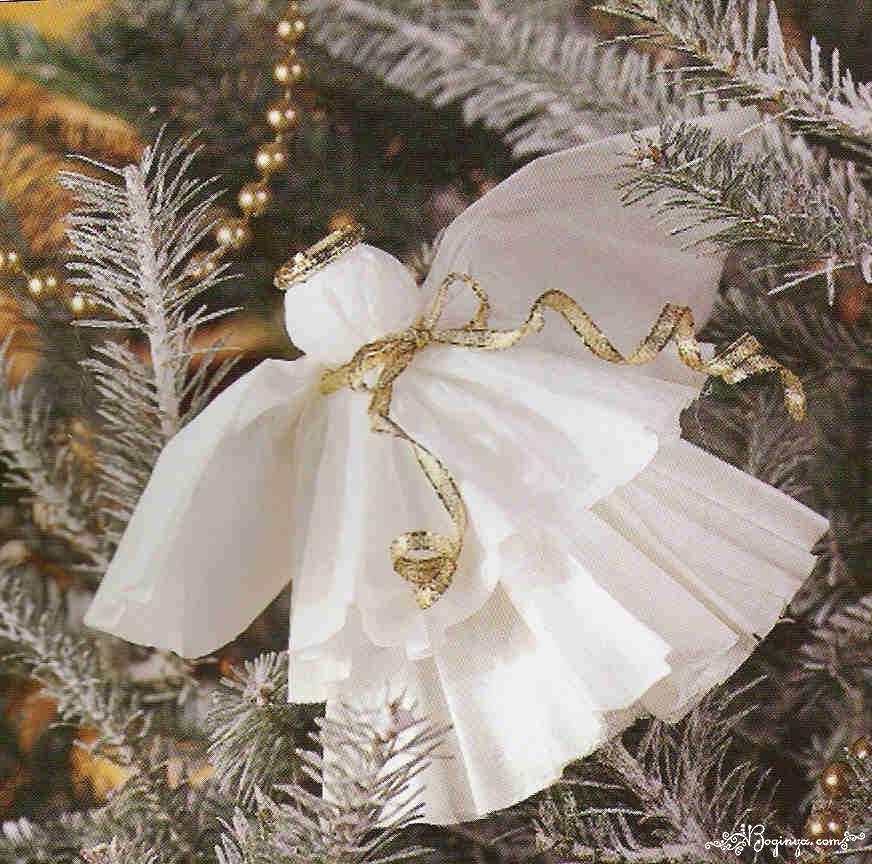 Как сделать Новогодние ангелы своими руками как