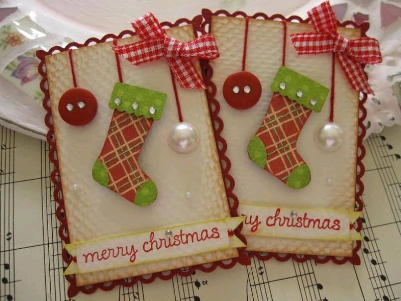 Идеи рождественской открытки своими руками