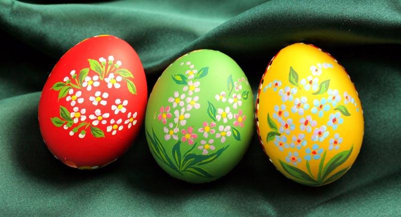 Раскрашенные пасхальные яйца своими руками