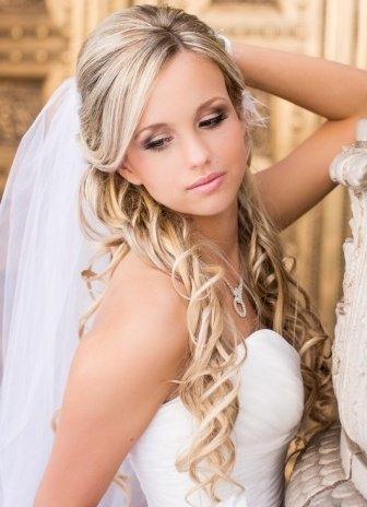 Комментарий: Изобр по > Прическа на Свадьбу на Длинные Волосы 2015... Wedding Saloon :: свадебные прически с фатой
