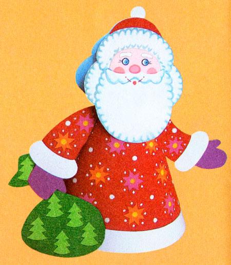 Органайзеры иКак сделать новогодний дед мороз иОбъемная