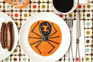 Spider-Pumpkin-Pancakes