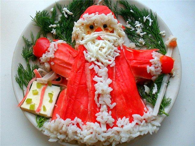 Новогодние салаты с вкусные