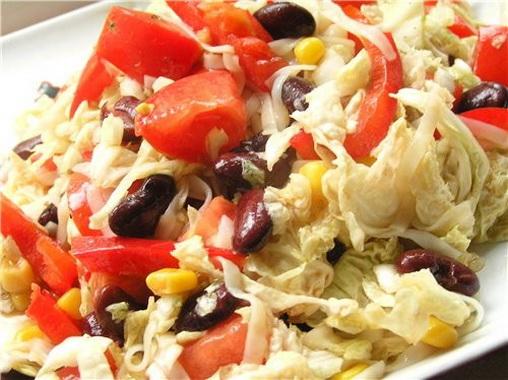 Салат из красной капусты с помидорами рецепт с