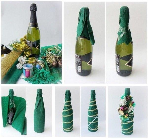 Бутылки лентами