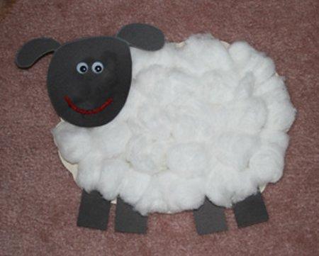 Поделка на новый год овечкаиз винной пробки