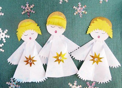 Сделать ангелочка своими руками из бумаги шаблоны