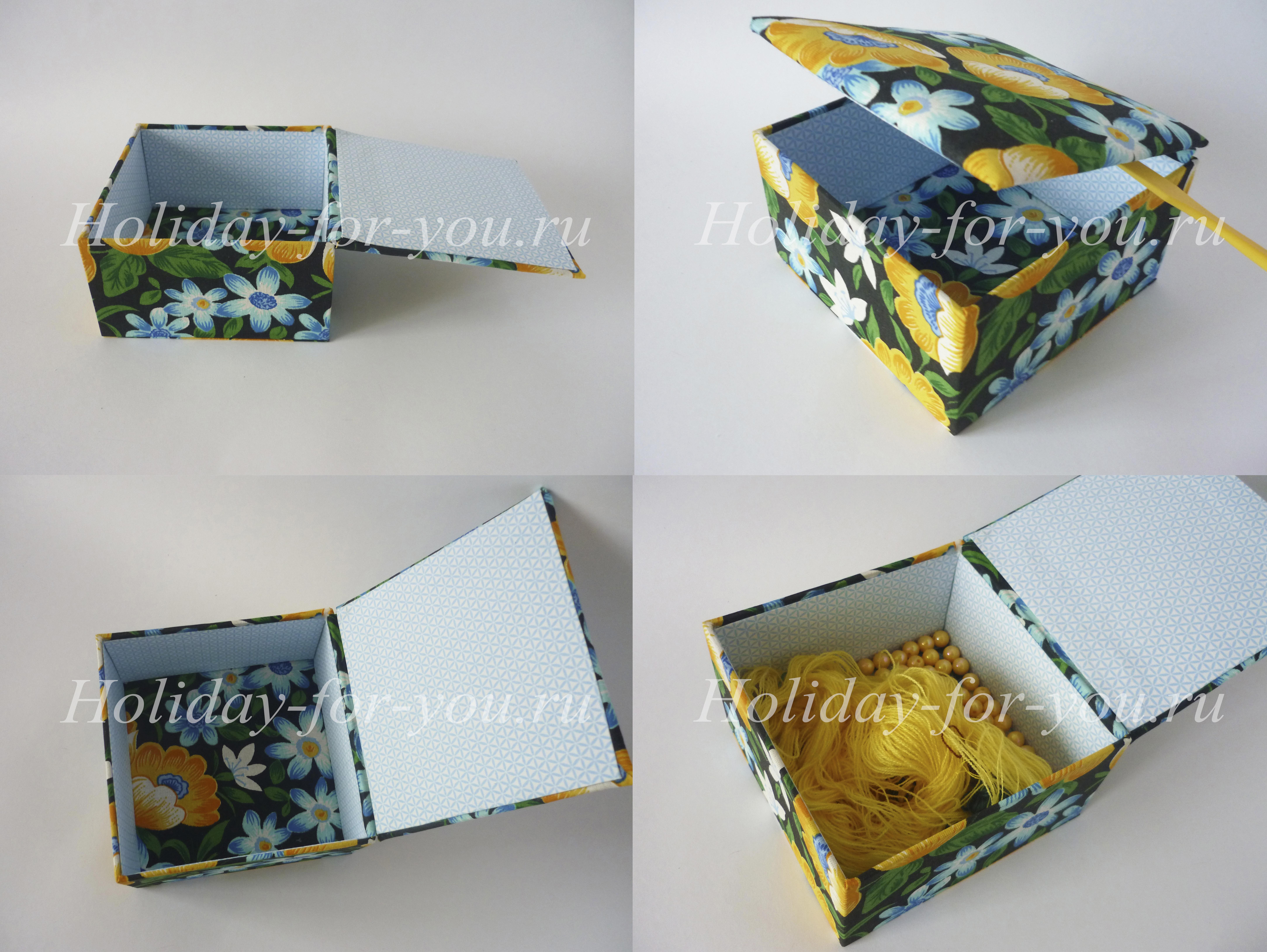 Изготовление шкатулок из картона своими руками6