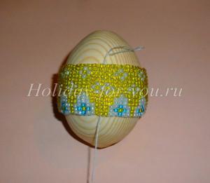 Оплетение яйца бисером