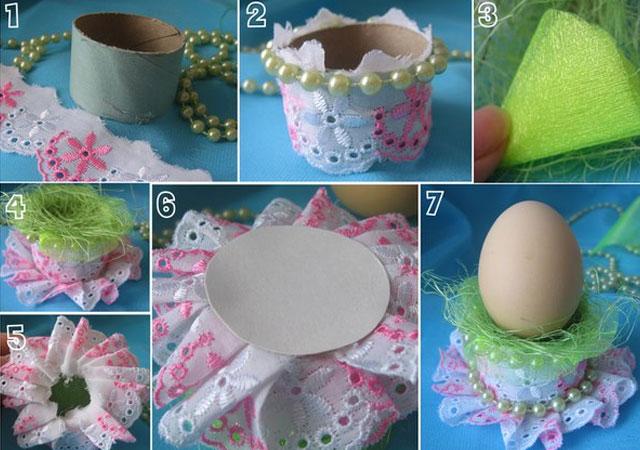 Подставки к пасхальным яйцам своими руками