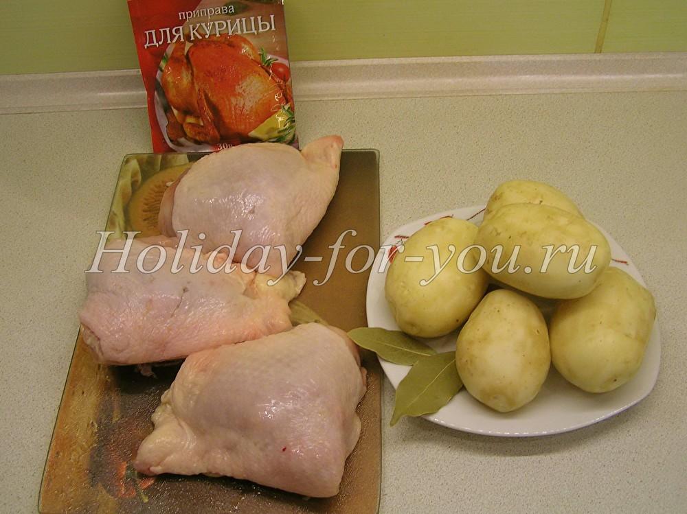 как приготовить целую курицу в духовке с корочкой с картошкой рецепт с фото
