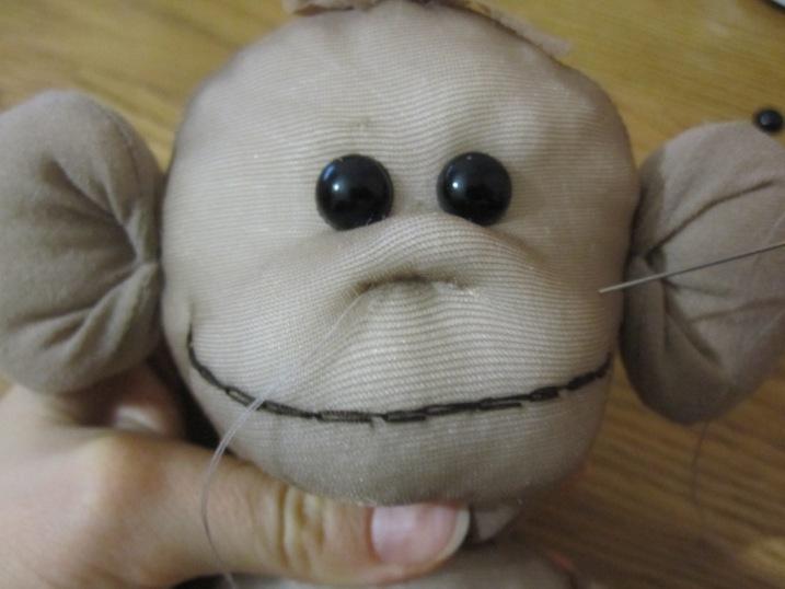 Обезьяна игрушка своими руками фото