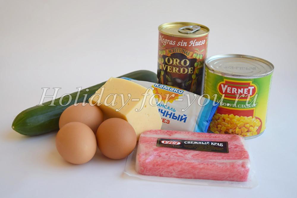 рецепт салата из крабовых палочек и мясом