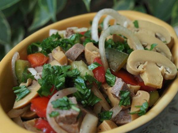 Салаты без майонеза с языком рецепты простые и вкусные
